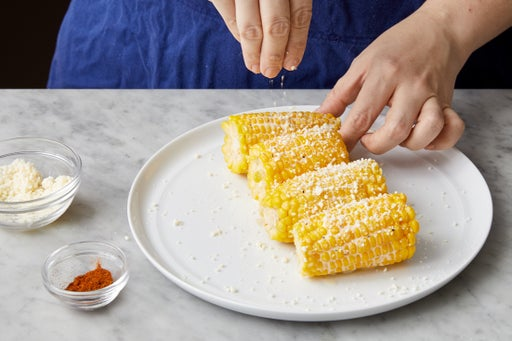 Make the elote: