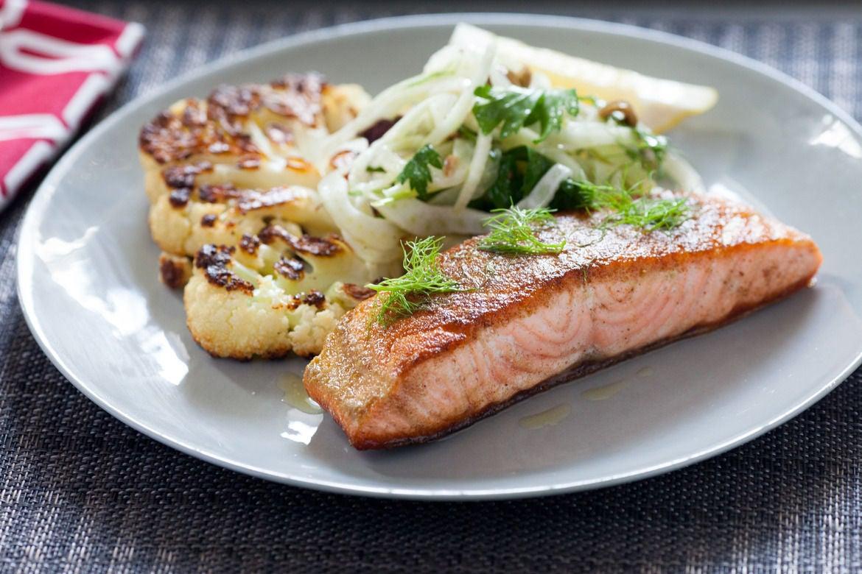 Blue apron za'atar spiced chicken - Salmon