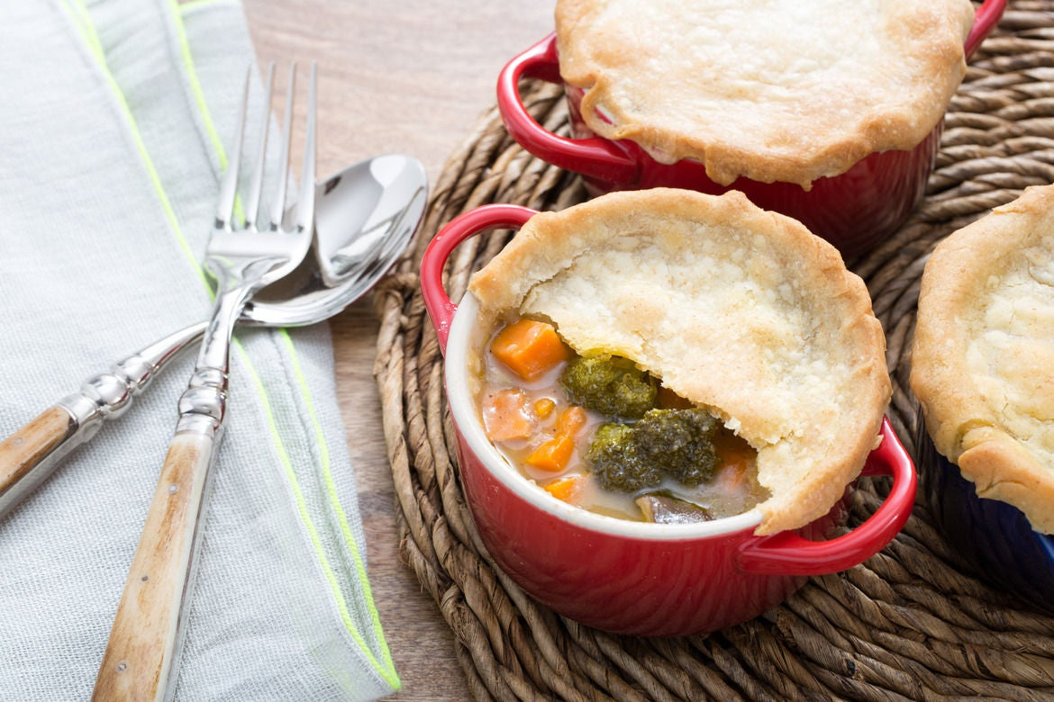 Vegetable Pot Pie  with Sweet Potato & King Trumpet Mushrooms