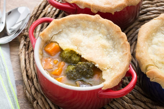 Potato Crusted Roasted Vegetable Pot Pie Recipe — Dishmaps