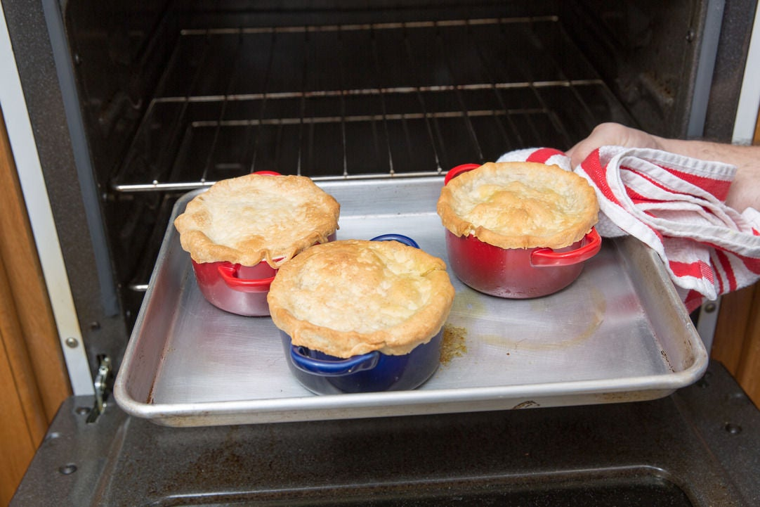 Bake the pot pie: