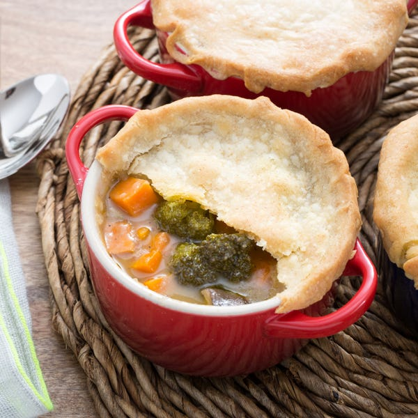 Vegetable Pot Pie with Sweet Potato & King Trumpet Mushrooms