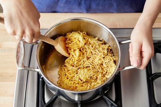 Cook & dress the noodles: