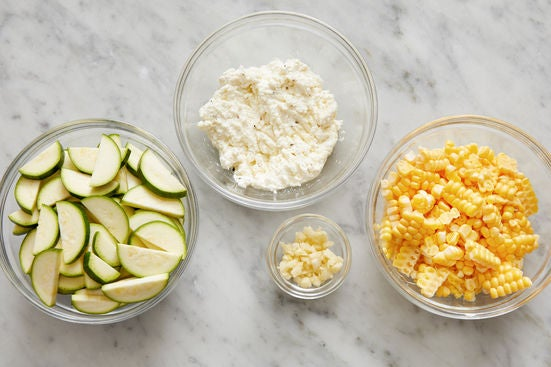 Prepare the ingredients & whip the ricotta: