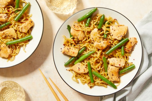 Chicken & Noodle Stir-Fry with Green Beans & Lime