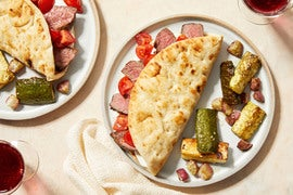 Steak Gyros Tzatziki & Za'atar-Roasted Vegetables