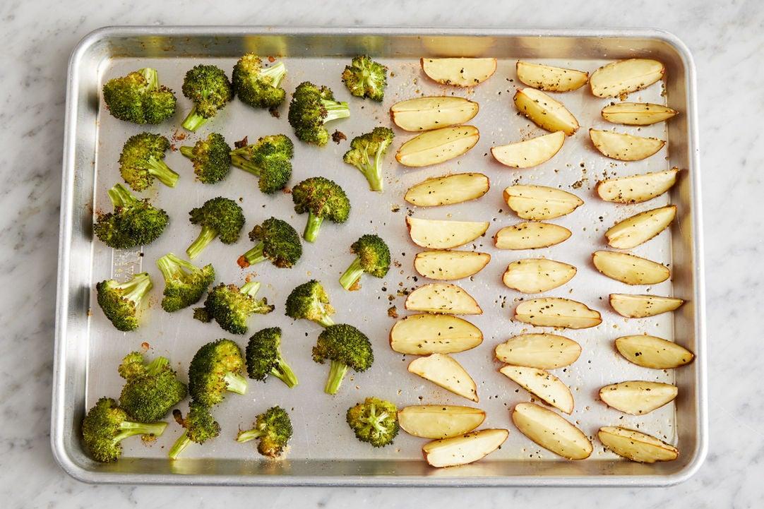 Prepare the broccoli & finish the vegetables: