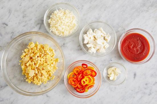 Prepare the ingredients & season the tomato sauce: