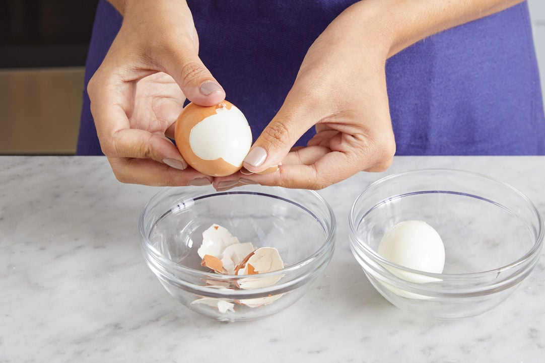 Make the hard-boiled eggs: