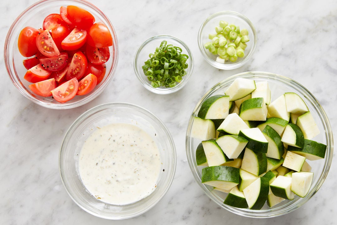 Prepare the ingredients & make the caper mayo: