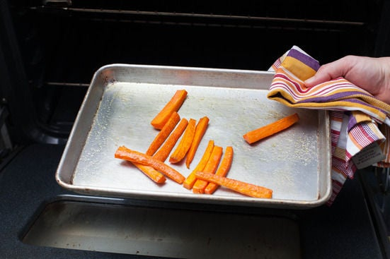 Roast the carrots: