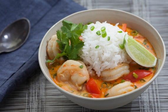 Thai Shrimp Soup with Coconut, Lemongrass & Red Curry