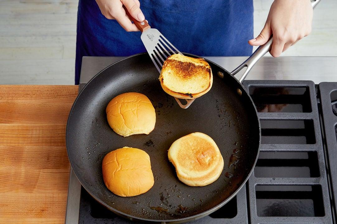 Toast the buns: