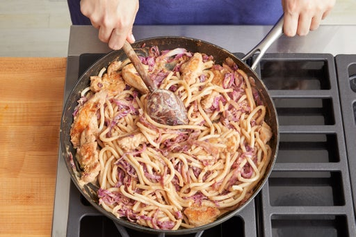 Cook the noodles & sauce: