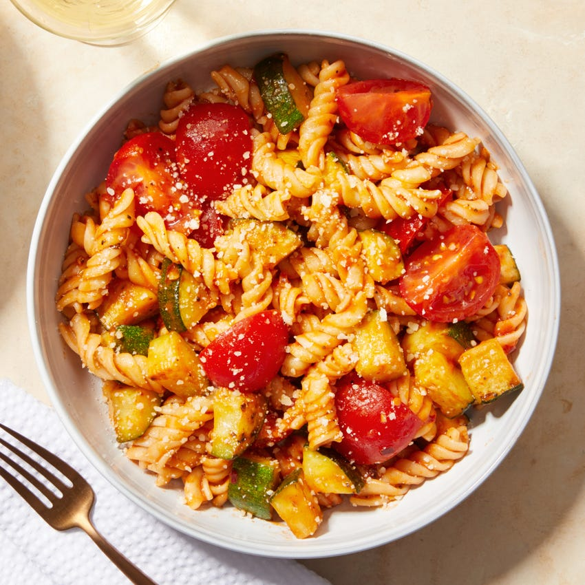 Fresh Fusilli Pasta with Summer Vegetables