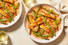 Honey-Sesame Chicken & Green Beans with Korean-Spiced Rice