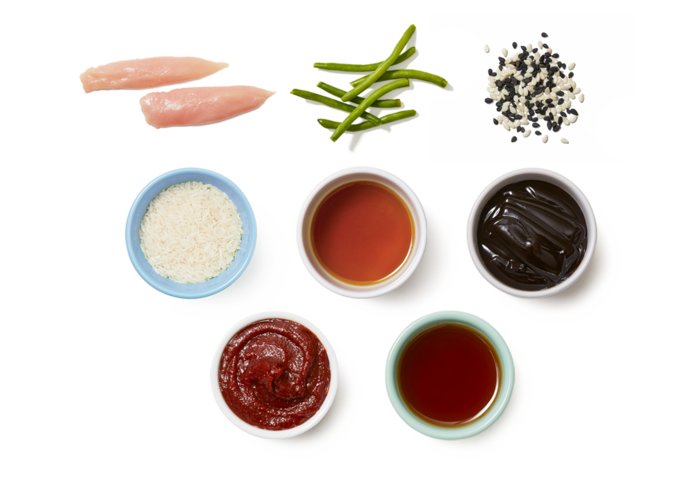 Honey-Sesame Chicken & Green Beans with Korean-Spiced Rice