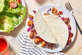 Mexican-Spiced Chicken Tacos with Butter Lettuce Salad  & Ranch Dressing