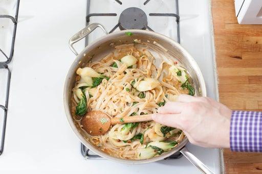 Stir-fry the vegetables: