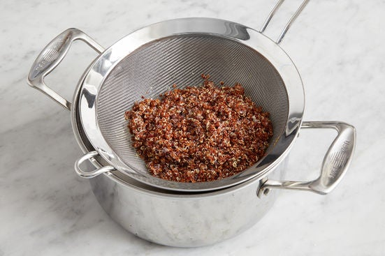 Cook & finish the quinoa: