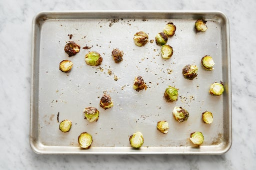 Roast the Brussels sprouts: