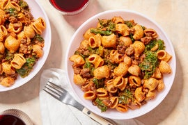 Picadillo-Style Beef Ragù with Whole Grain Pasta