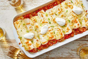 Pork Chorizo Enchiladas with Monterey Jack Cheese  & Sour Cream