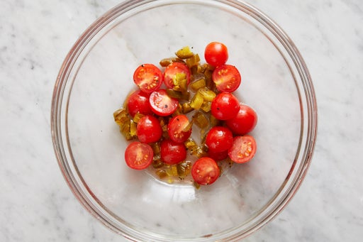 Make the spicy tomatoes: