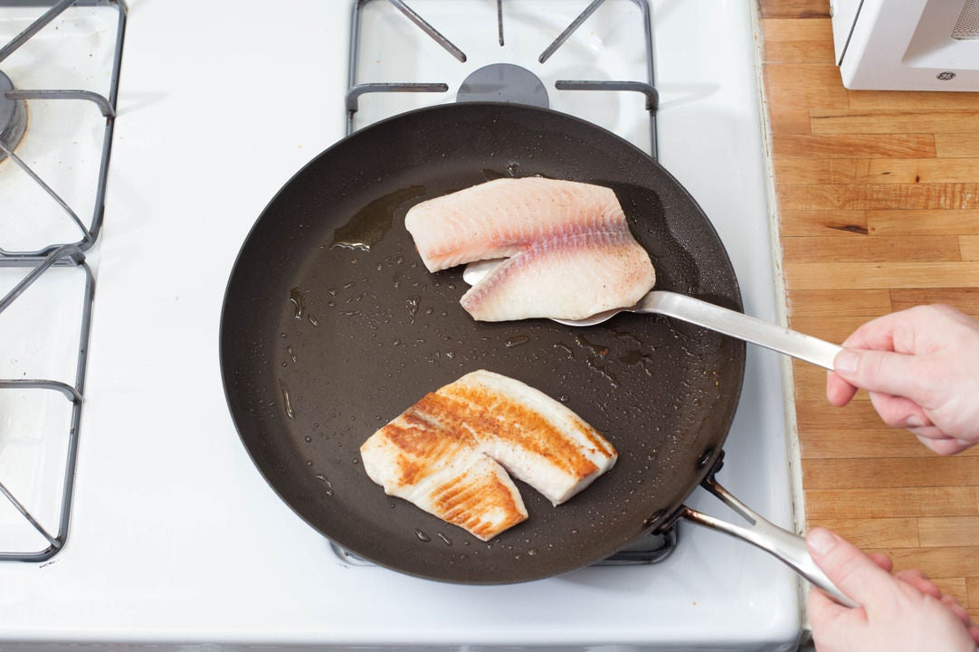 Cook the fish & plate your dish: