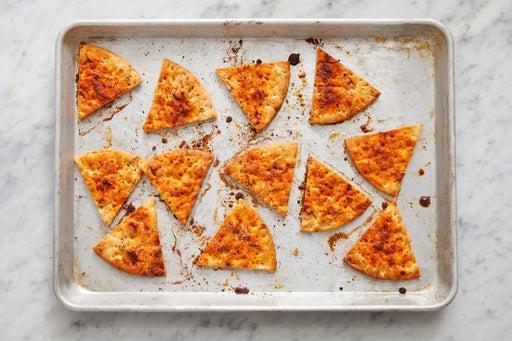 Make the pita chips: