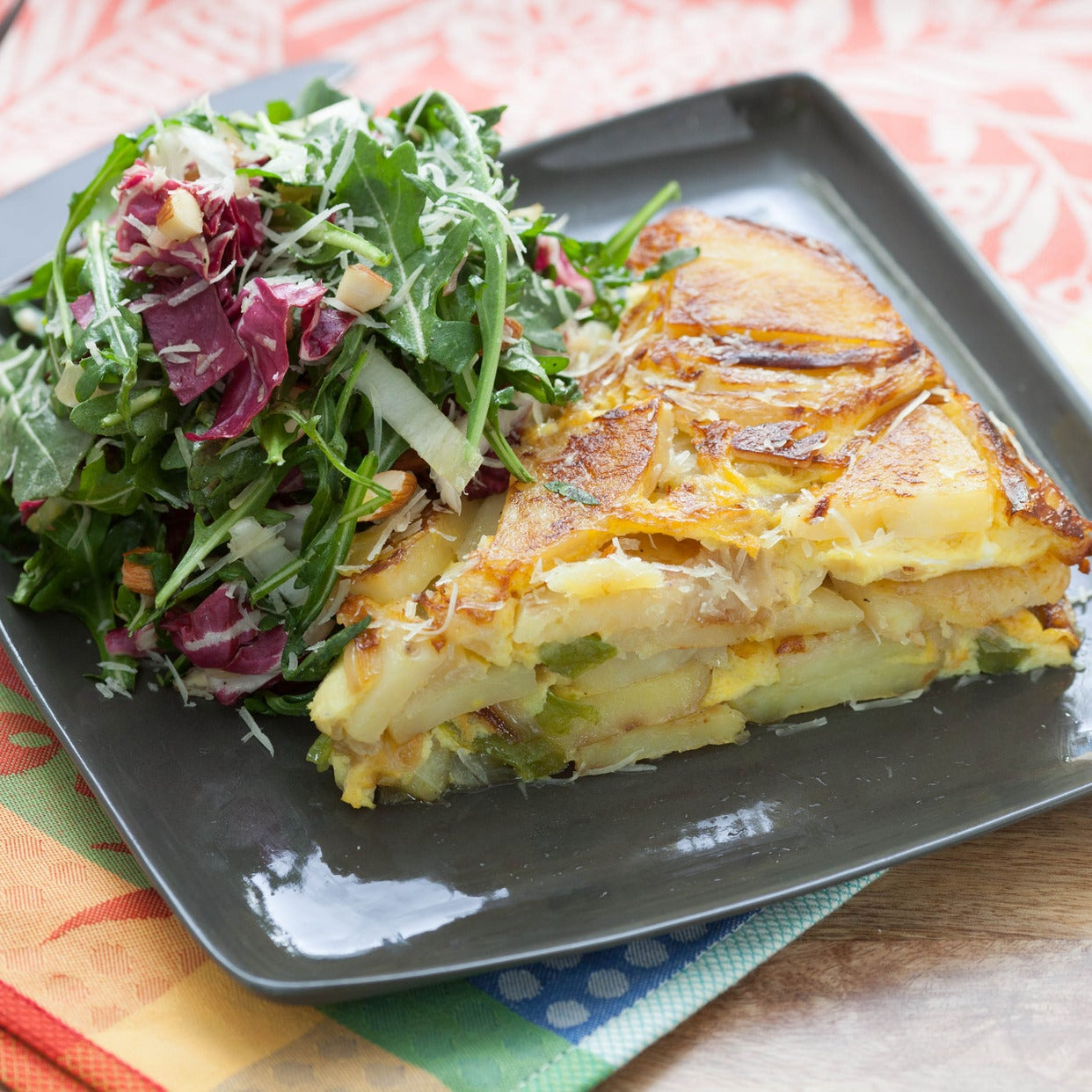 Tortilla Espanola with Bitter Green Salad
