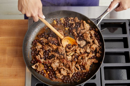Cook the beef & serve your dish: