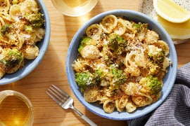 Roasted Cauliflower & Orecchiette with Garlic Breadcrumbs