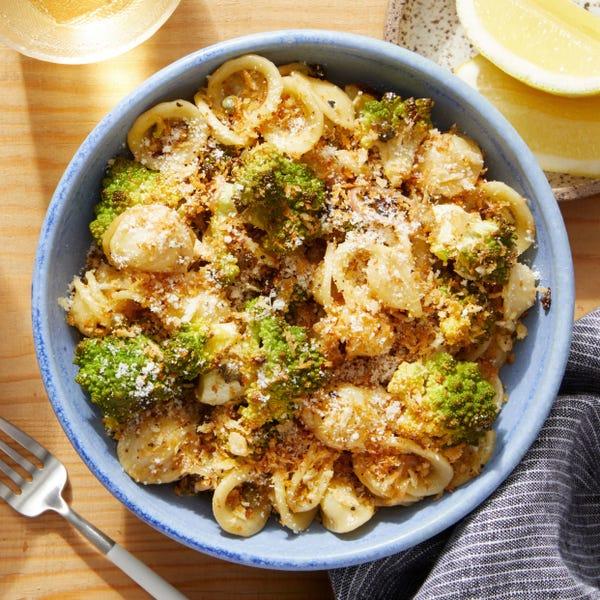 Roasted Cauliflower & Orecchiette with Garlic Breadcrumbs