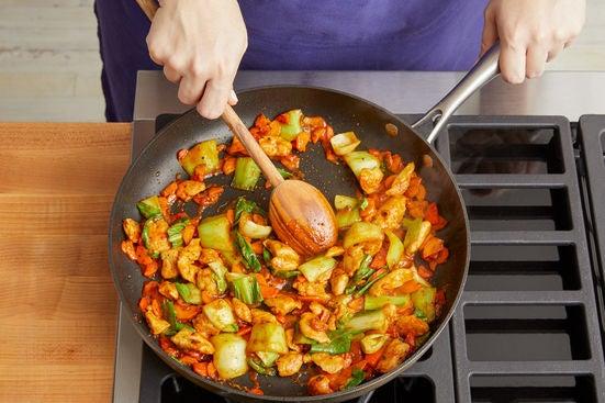 Finish the stir-fry: