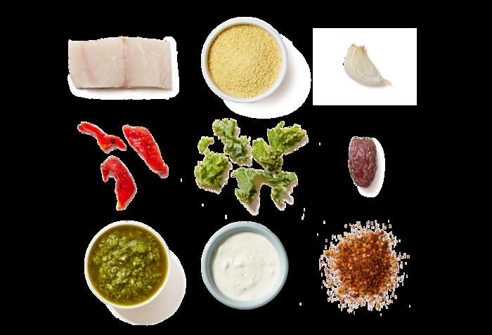 Spiced Barramundi with Mediterranean Couscous & Tzatziki Sauce