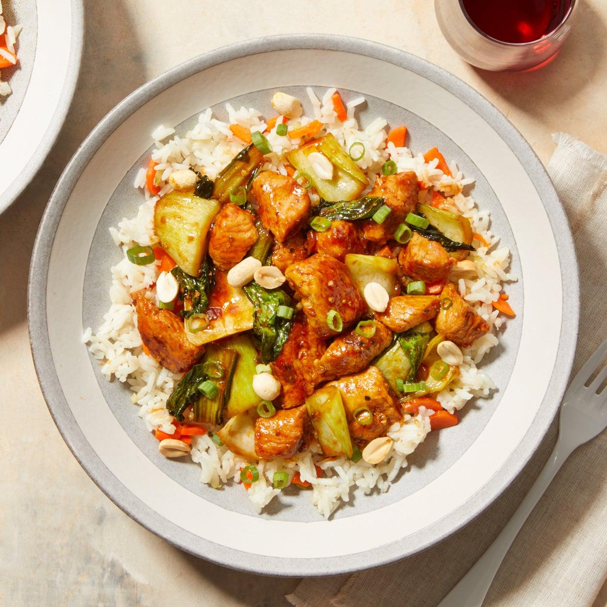Savory Turkey Stir-Fry with Jasmine Rice & Carrots