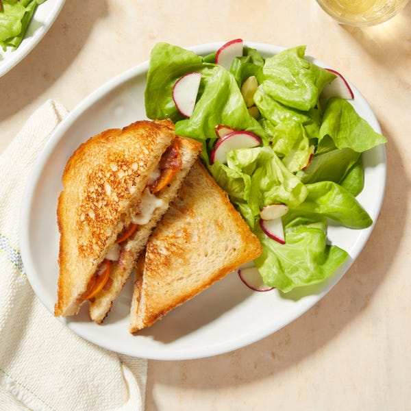 Fontina & Sourdough Grilled Cheese with Persimmon & Onion