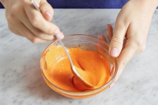 Make the gochujang mayo & serve your dish: