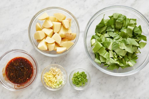 Prepare the ingredients & make the glaze: