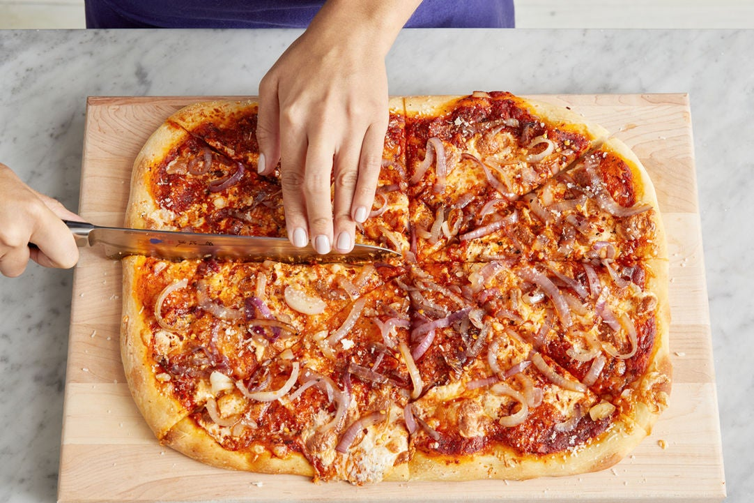 Finish the pizza & serve your dish:
