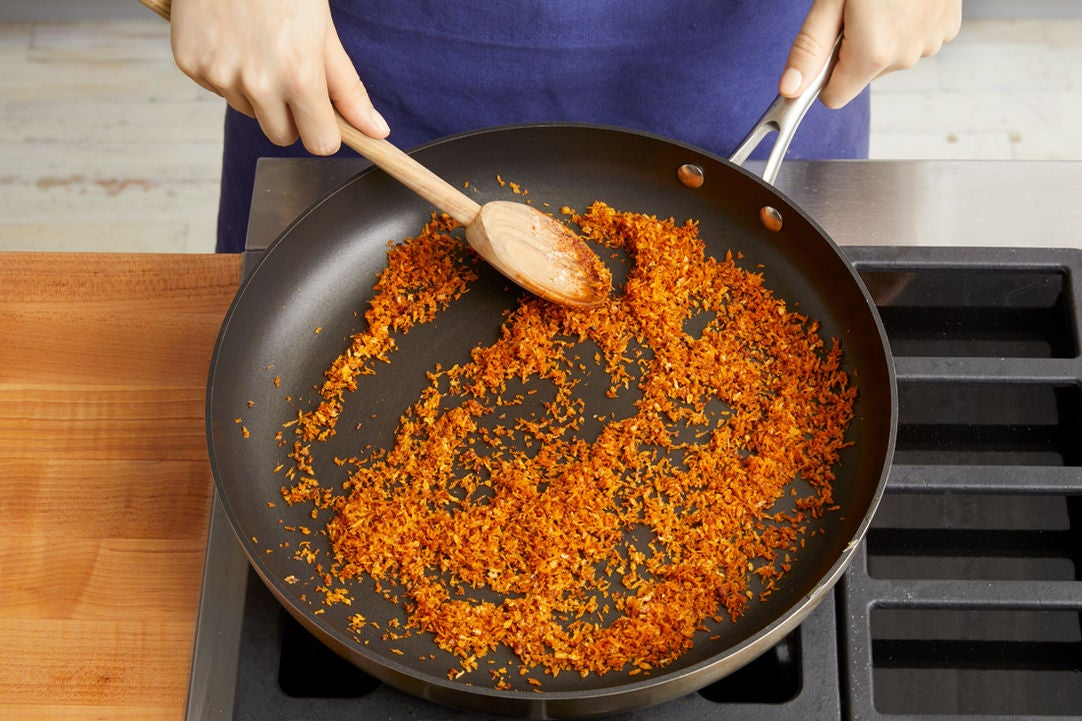 Make the spiced breadcrumbs: