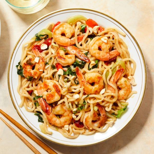 Shrimp Lo Mein with Baby Bok Choy & Peanuts