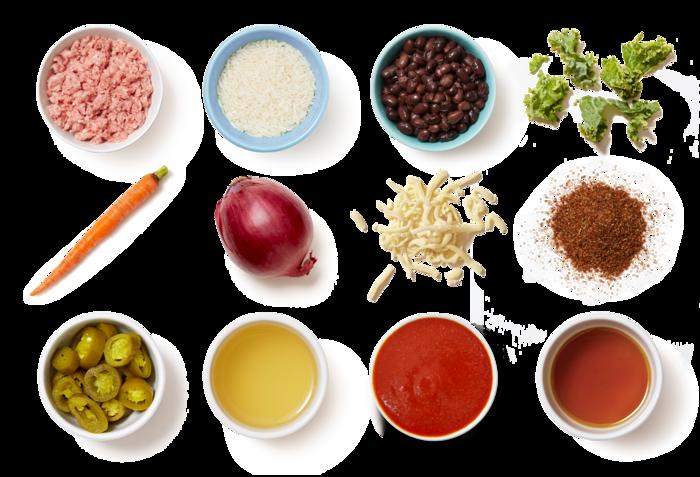 Smoky Pork Burrito Bowl with Black Beans & Honey-Jalapeño Carrots