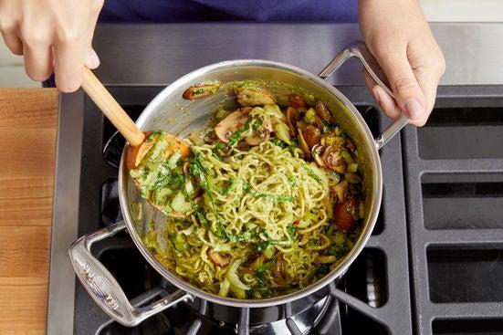 Finish the noodles & serve your dish: