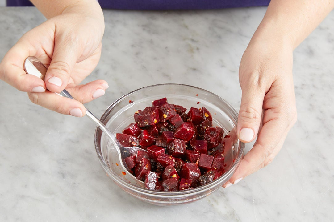 Marinate the beets: