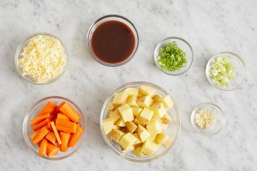 Prepare the ingredients & start the pan sauce: