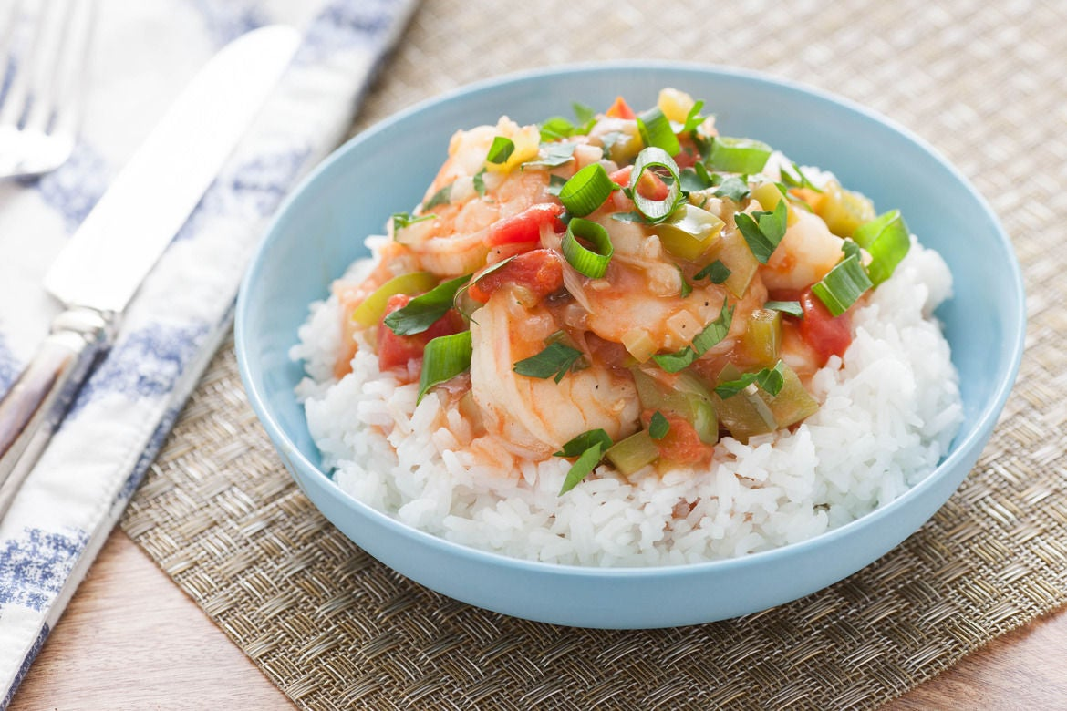 Recipe: New Orleans-Style Shrimp Etoufee with Jasmine Rice - Blue ...