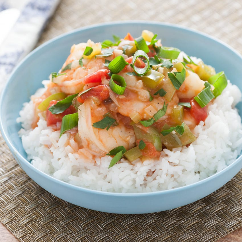 New Orleans-Style Shrimp Etoufee with Jasmine Rice