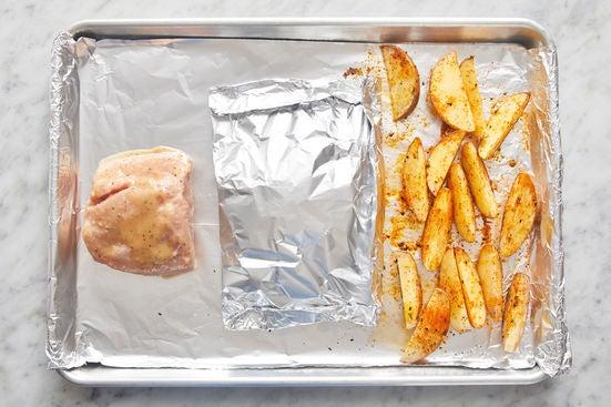 Glaze the pork: